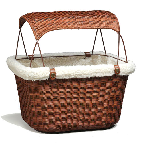 Solvit Wicker Pet Bicycle Basket