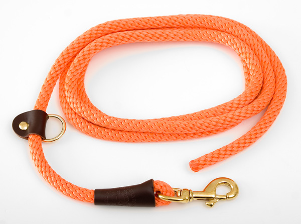 "Mendota Pet EZ Trainer/Leash: Orange, 1/2"" x 8'"