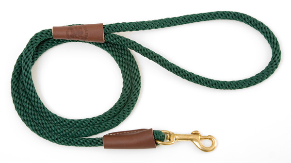"Mendota Pet Small Snap Leash: Green, 3/8"" x 4'"