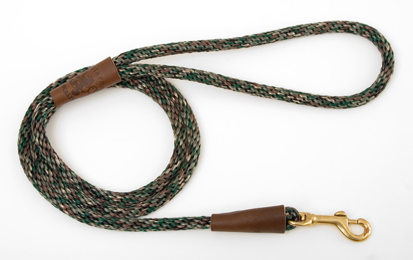 "Mendota Pet Small Snap Leash: Camo, 3/8"" x 4'"
