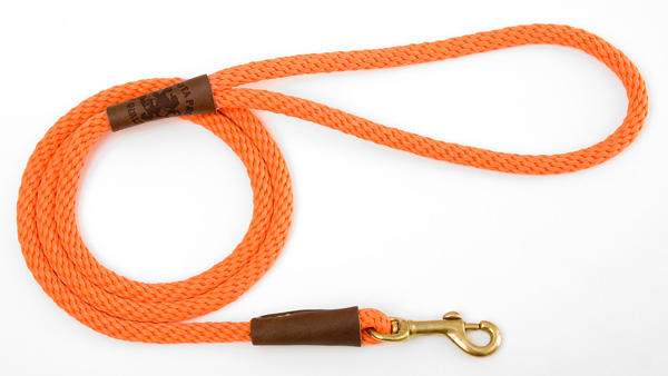 "Mendota™ Small Snap Leash: Orange, 3/8"" x 4'"
