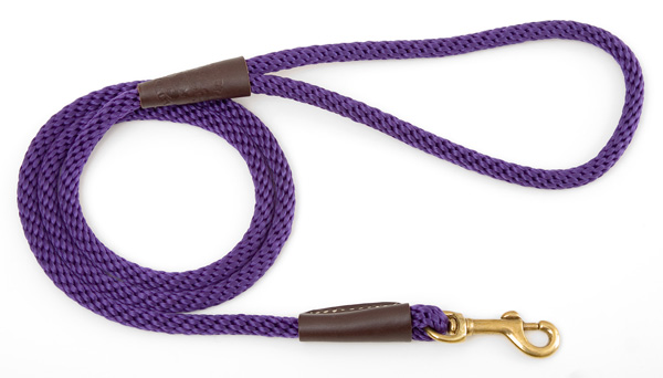 "Mendota Pet Small Snap Leash: Purple, 3/8"" x 4'"