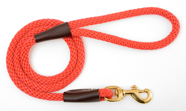 "Mendota Pet Snap Leash: Red, 1/2"" x 4'"