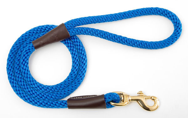 "Mendota™ Snap Leash: Blue, 1/2"" x 4'"