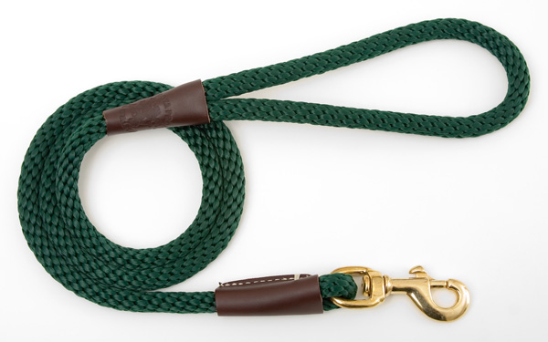 "Mendota Pet Snap Leash: Green, 1/2"" x 4'"