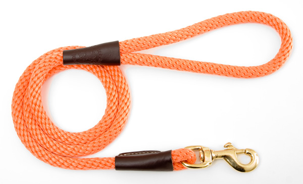 "Mendota Pet Snap Leash: Orange, 1/2"" x 4'"