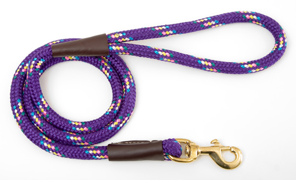 "Mendota Pet Snap Leash: Purple Conf, 1/2"" x 4'"