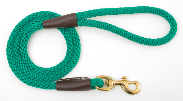 "Mendota™ Snap Leash: Kelly Green, 1/2"" x 4'"
