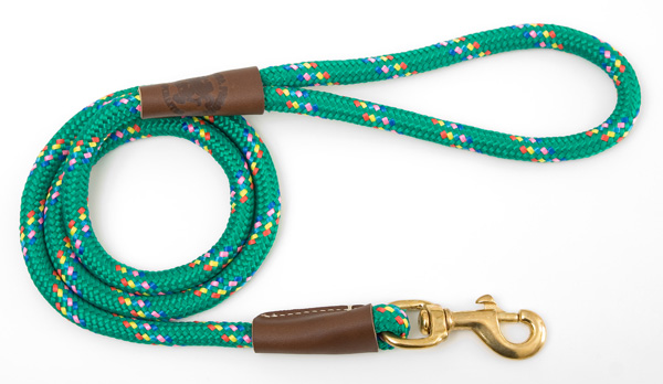 "Mendota Pet Snap Leash: Kelly Conf, 1/2"" x 4'"