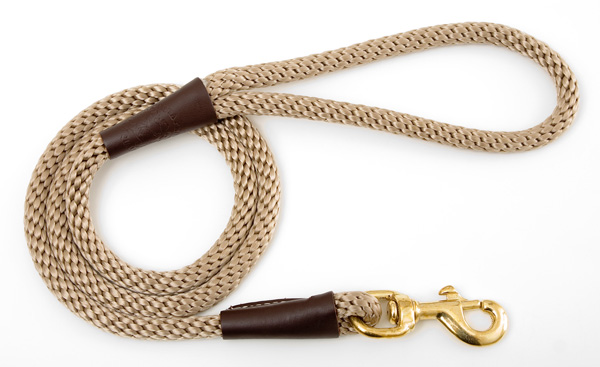 "Mendota Pet Snap Leash: Tan, 1/2"" x 4'"