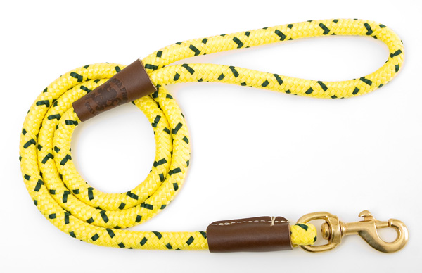 "Mendota Pet Snap Leash: Hi-Viz Yellow, 1/2"" x 4'"