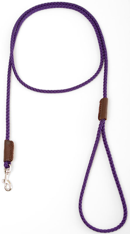 "Mendota Pet British Show Snap Leash: Purple, 1/8"" x 4'"
