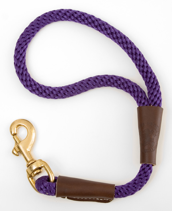 "Mendota Pet Traffic Lead: Purple, 1/2"" x 16"""