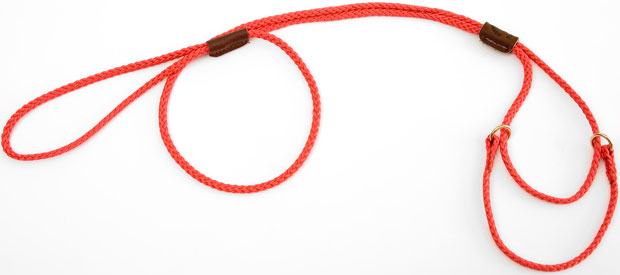 "Mendota Martingale Show Lead: Red, Medium 10"", 1/8"" x 40"""