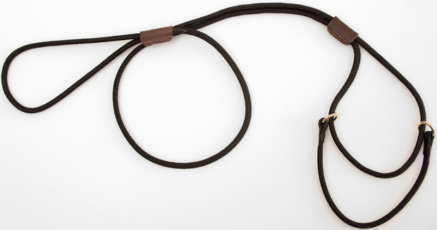 "Mendota Martingale Show Lead: Black, Small 8"", 1/8"" X 40"""