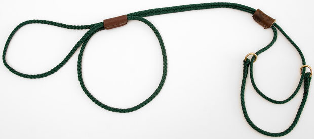 "Mendota Martingale Show Lead: Green, Large 12"", 1/8"" x 40"""