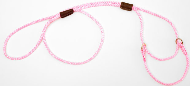 "Mendota Martingale Show Lead: Hot Pink, Large 12"", 1/8"" x 40"""