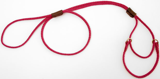 "Mendota Martingale Show Lead: Raspberry, Medium 10"", 1/8"" x 40"""