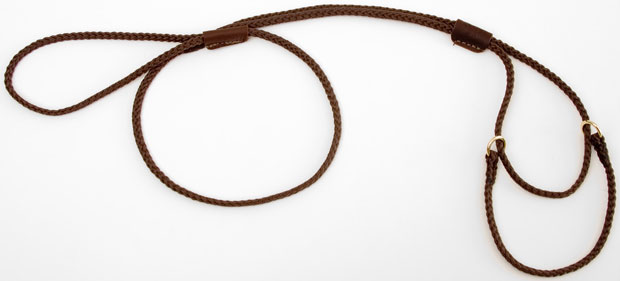 "Mendota Martingale Show Lead: Dark Brown, Large 12"", 1/8"" x 40"""