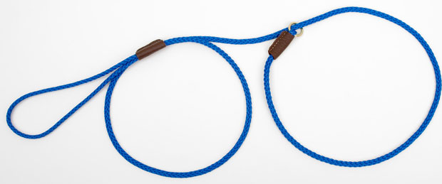 "Mendota Pet British Show Slip Lead: Blue, 1/8"" X 54"""