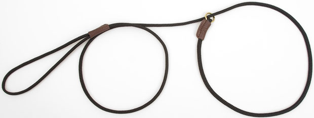 "Mendota Pet British Show Slip Lead: Black, 1/8"" X 54"""