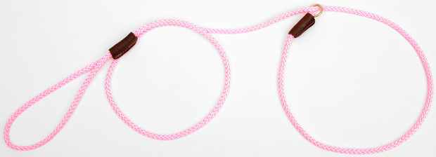 "Mendota Pet British Show Slip Lead: Hot Pink, 1/8"" X 54"""