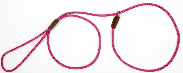 "Mendota Pet British Show Slip Lead: Raspberry, 1/8"" X 54"""