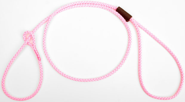 "Mendota Pet Show Loop Lead: Pink, 1/8"" X 4'"