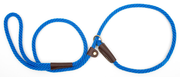 "Mendota™ British Style Small Slip Lead Rope: Leash and Collar in One, Blue, 3/8"" x 4'"