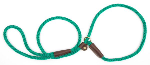 "Mendota Pet British Style Small Slip Lead Rope: Leash and Collar in One, Kelly Green, 3/8"" x 4'"