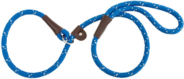 "Mendota Pet Night Viz Reflective Slip Lead: Blue, 1/2"" x 4'"
