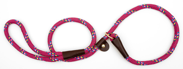 "Mendota™ British Style Slip Lead Rope: Leash and Collar in One, Rasp Conf, 1/2"" X 4'"