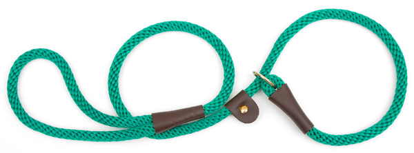 "Mendota Pet British Style Slip Lead Rope: Leash and Collar in One, Kelly Green, 1/2"" X 4'"