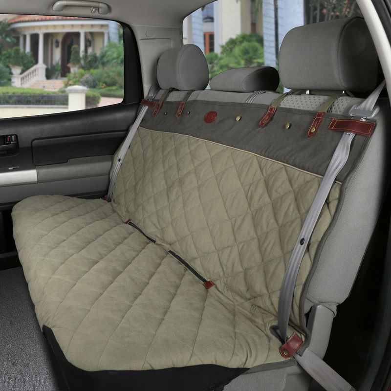 "Solvit Premium Bench Pet Seat Cover: Green, 60"" W x 47"" L"