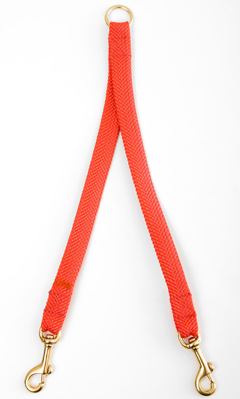 "Mendota Pet Large Breed Dog Coupler: Red, 2-Dog, 1""w x 28"""