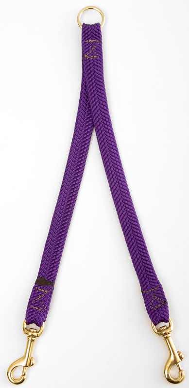 "Mendota Large Breed Dog Coupler: Purple, 2-Dog, 1""w x 28"""