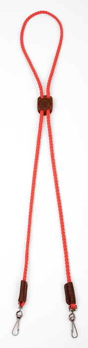 Whistle Lanyard: Double, Red