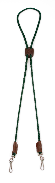 Mendota Pet Whistle Lanyard: Double, Green