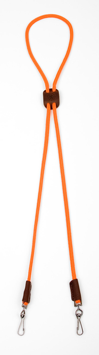 Mendota Pet Whistle Lanyard: Double, Orange