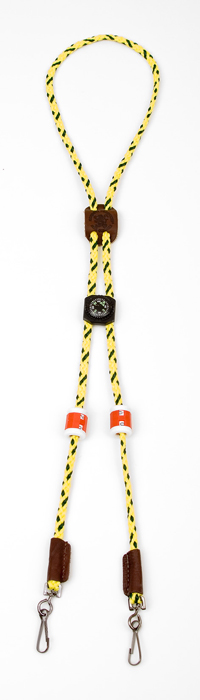 Mendota Pet Ultimate Lanyard with Counters and Compass: Hi-Viz Yellow