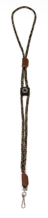 Mendota Whistle Lanyard: Single with Compass, Camo
