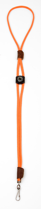 Mendota Pet Whistle Lanyard: Single with Compass, Orange