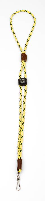 Mendota Whistle Lanyard: Single with Compass, Hi-Viz Yellow
