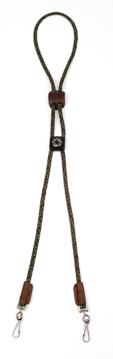 Mendota Whistle Lanyard: Double with Compass, Camo
