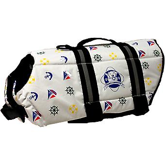 Paws Aboard Dog Life Jacket: Nautical, Large