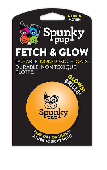 Spunky Pup Fetch & Glow Ball Medium