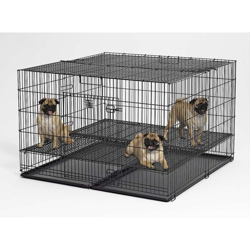 "Midwest Products Puppy Playpen With Plastic Pan And 1"" Floor Grid"