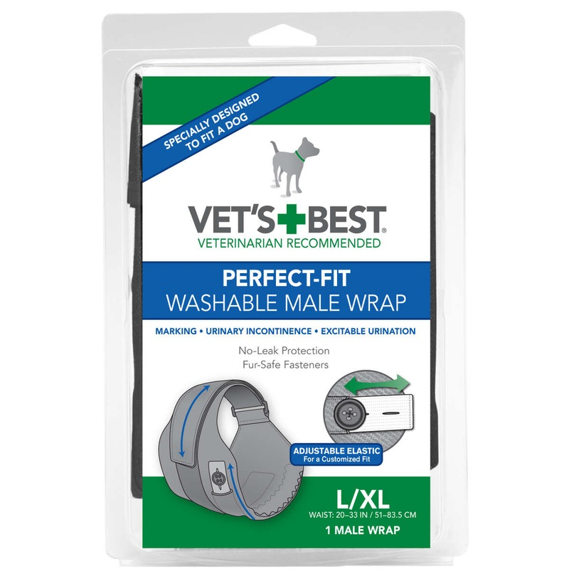 Vet's Best Perfect-fit Washable Male Wrap 1 Pack