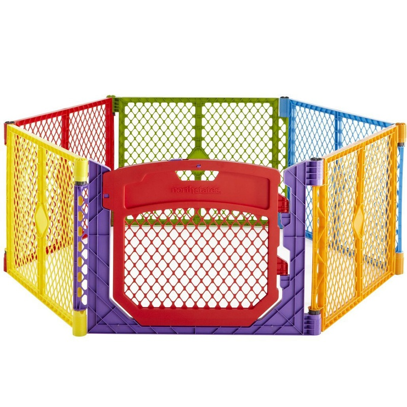 North States Superyard Colorplay Ultimate Freestanding 6 Panel Playpen