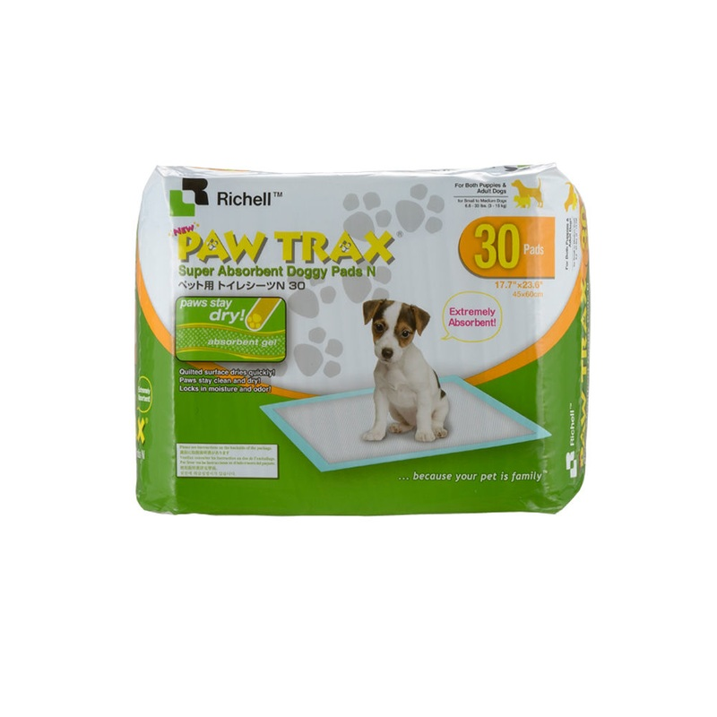 Richell Paw Trax Pet Training Pads 30 Count